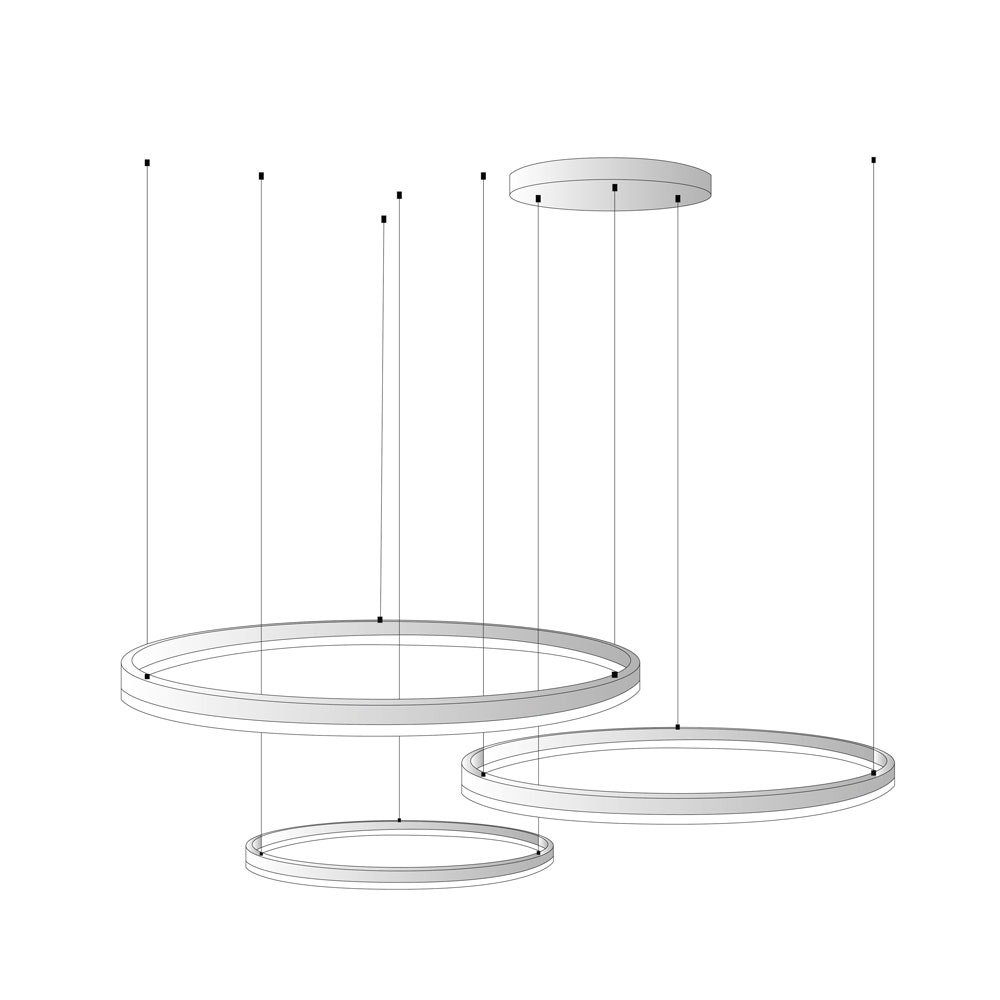 s.LUCE Ring Umbau zentrisch / exzentrisch (ohne LED-Ringe) 1