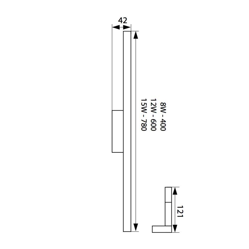 LED Spiegelleuchte Asto 40cm IP44 450lm 4000 5