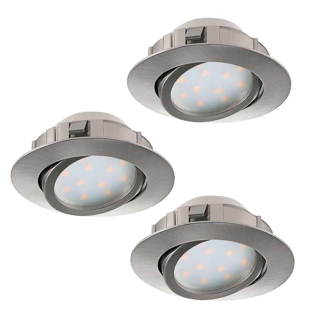 Pineda LED Einbauspot 3er-Set 3x 500lm Nickel-Matt