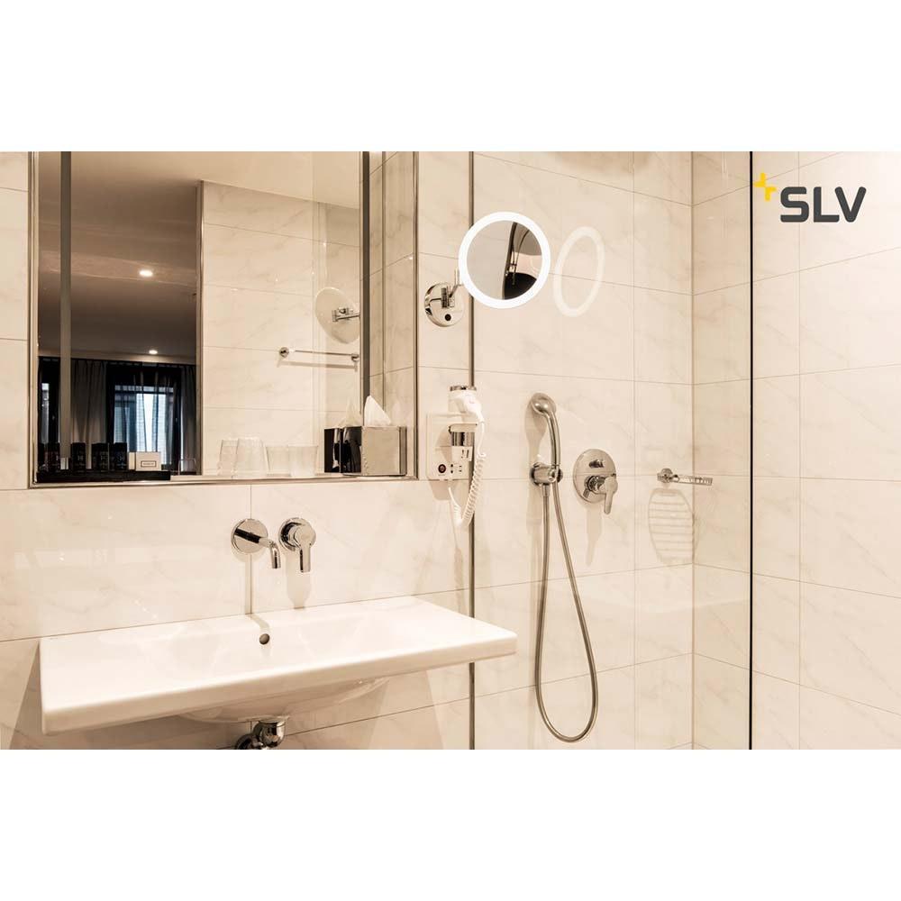 SLV Maganda LED Kosmetikspiegel Chrom IP44 2