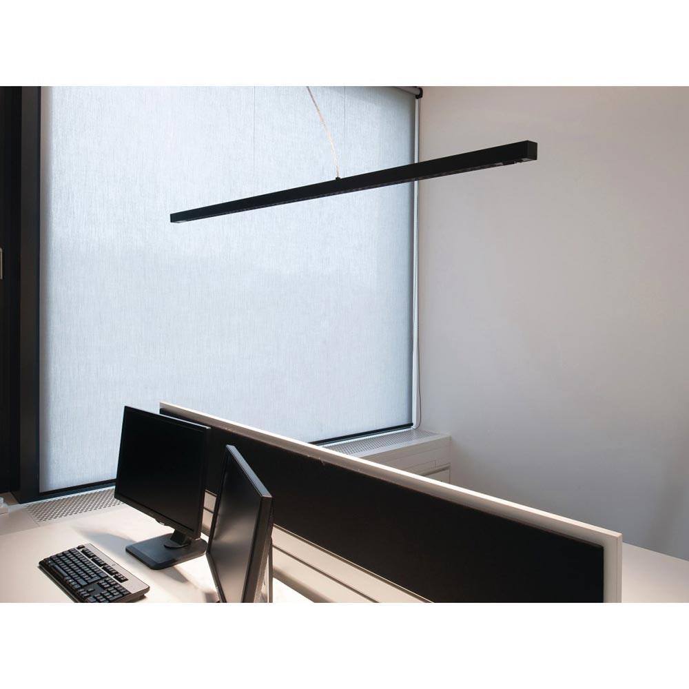 Molto Luce Lens Double Büro Pendellampe 11480lm up & down Schwarz Sensor 1