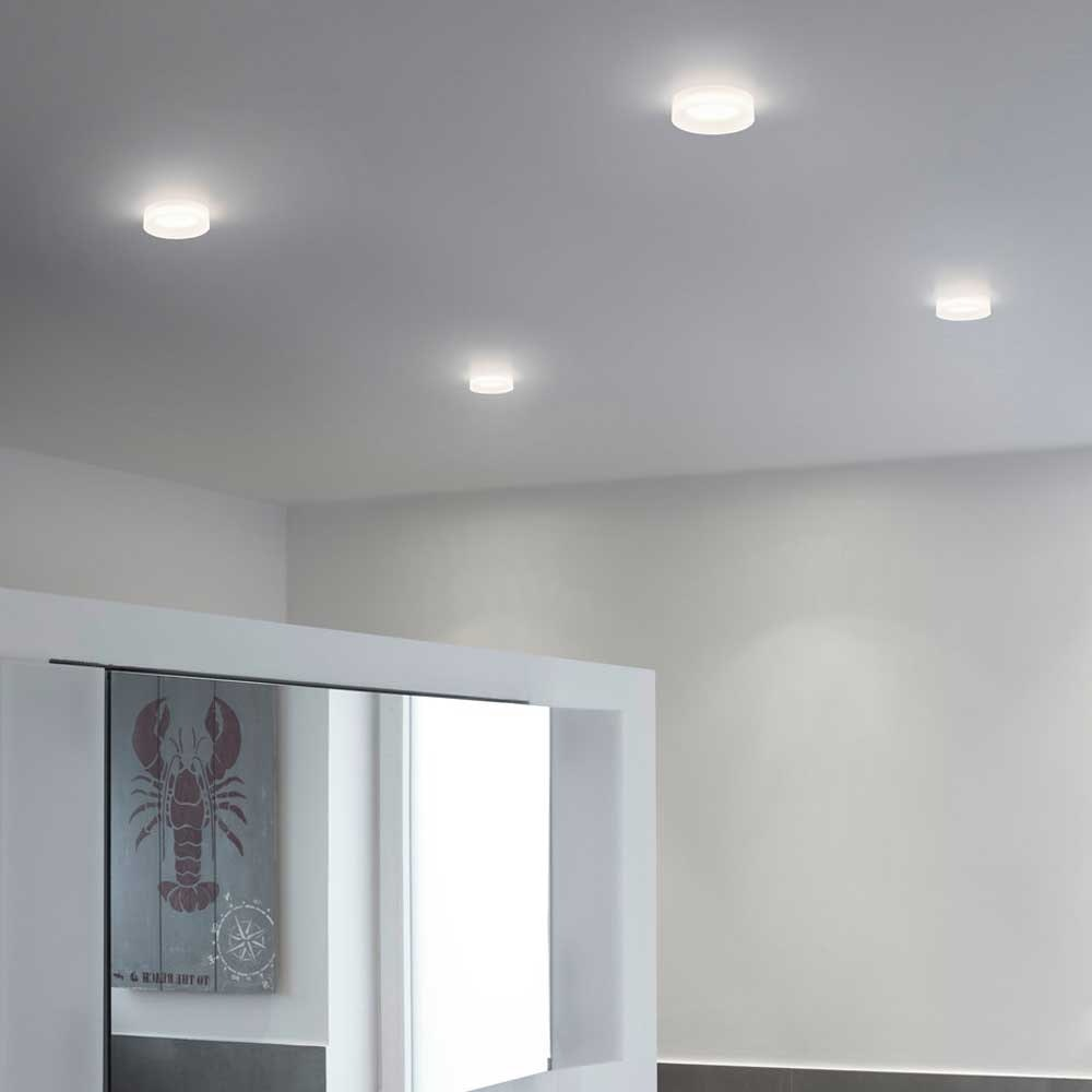 Helestra LED Decken-Einbauleuchte Iva Dimmbar satiniert IP44 2