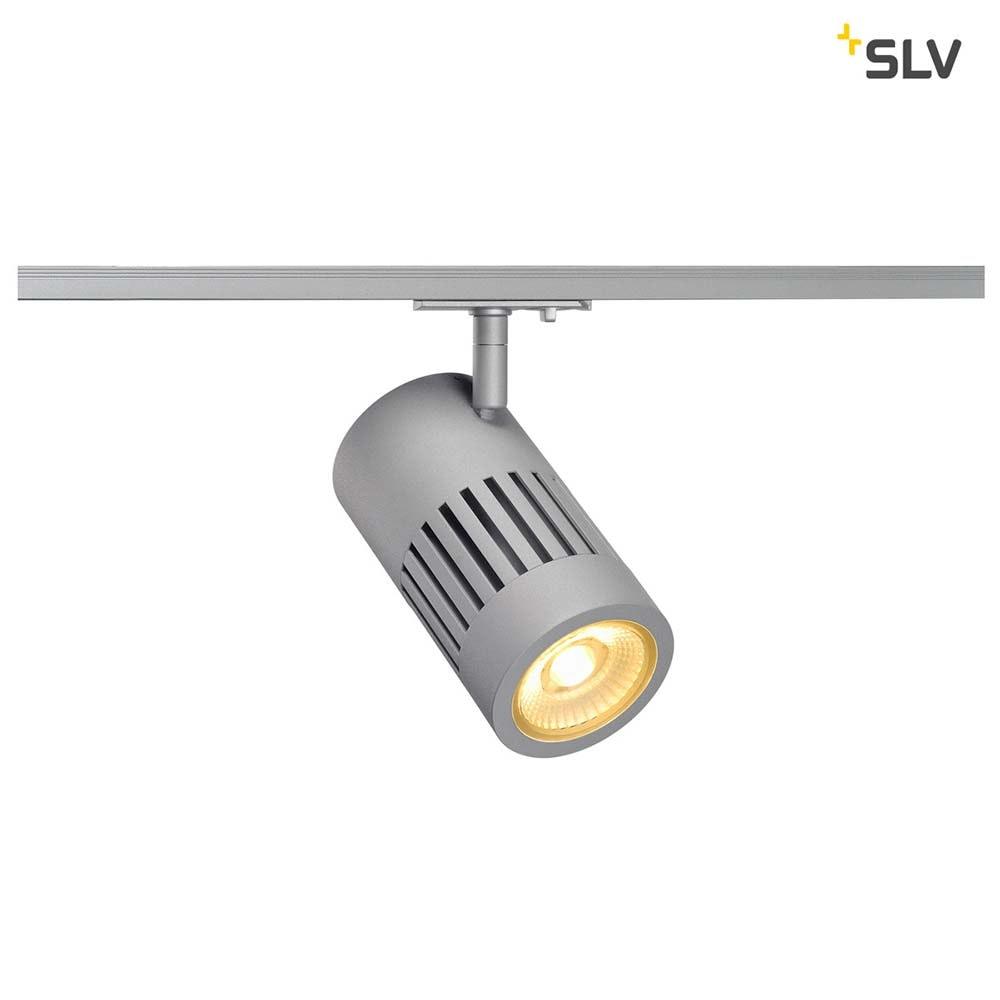 SLV Stuctec LED Silber 60° inkl. 1P.-Adapter