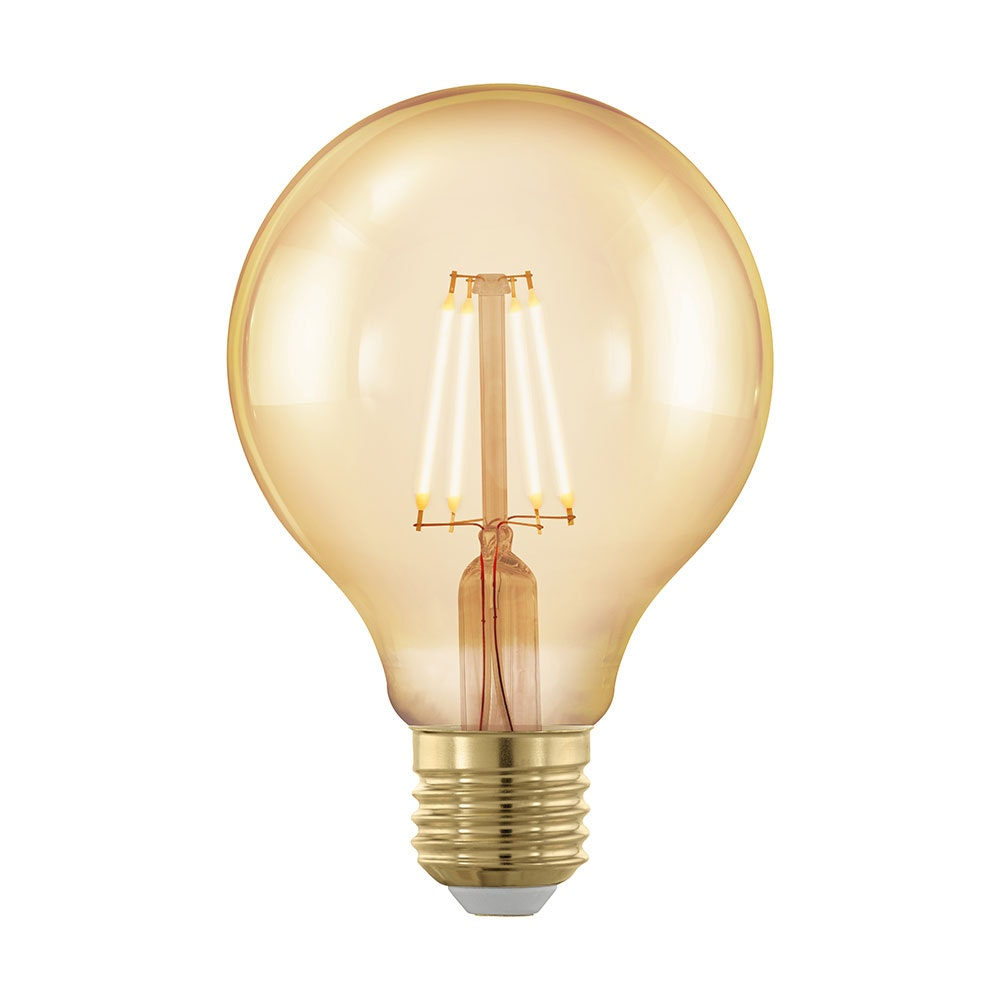 E27 LED G80 4W Amber 1700K