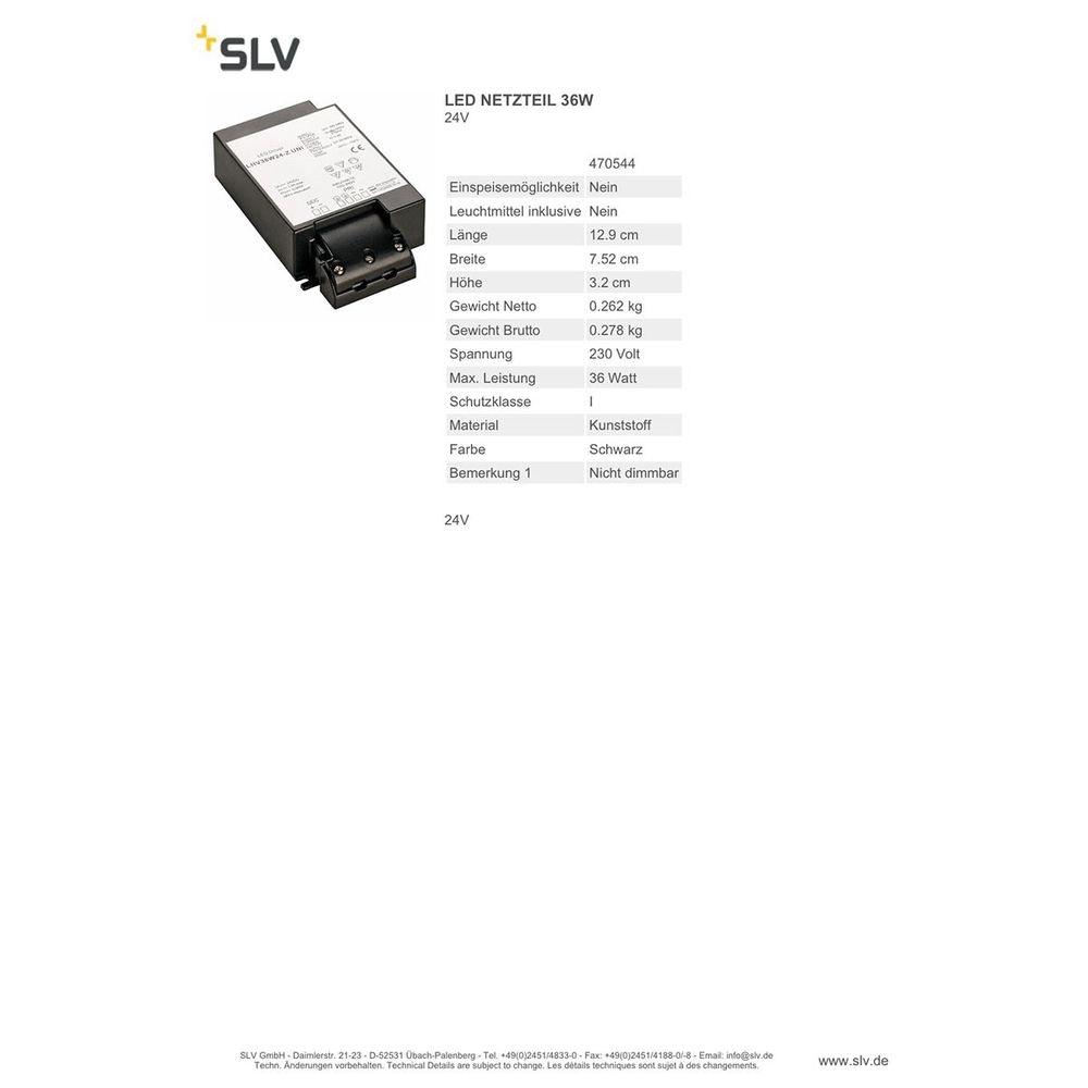 SLV LED Netzteil 36W 24V 2