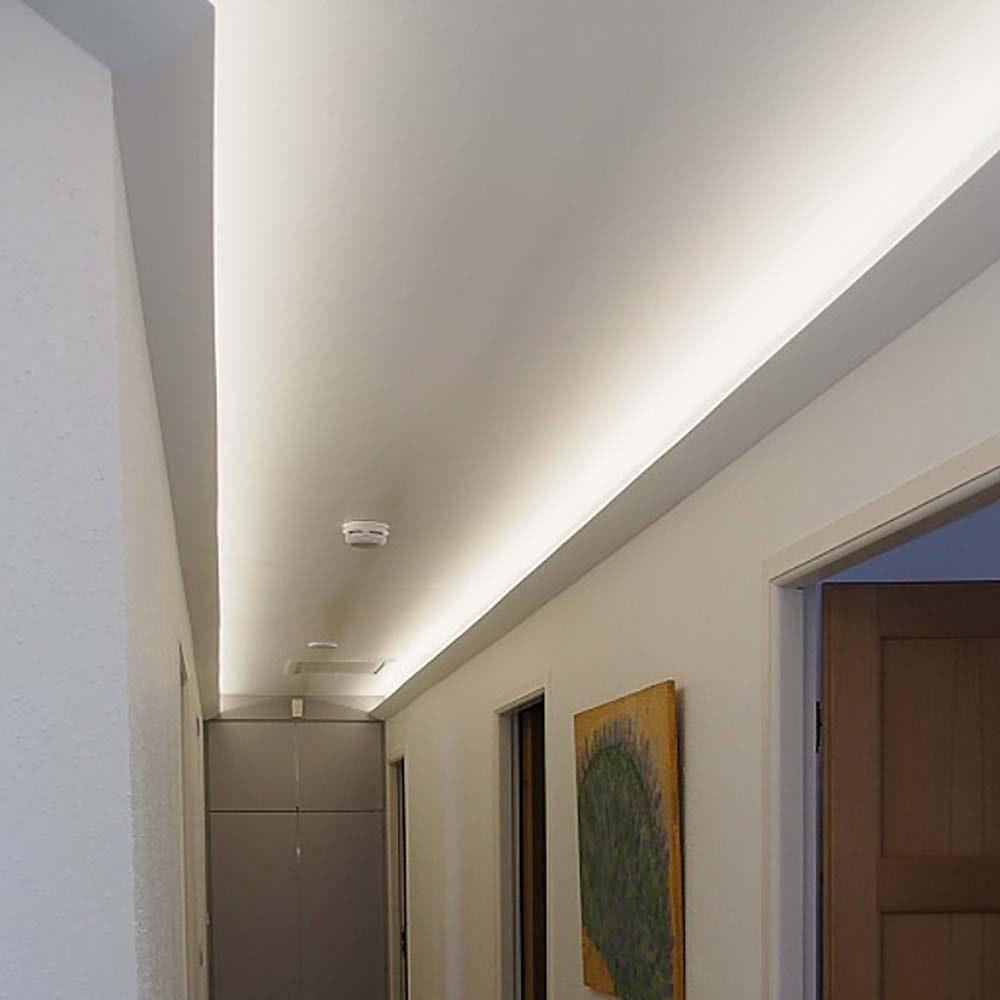 Dekor-Profil 6cm Stuckleiste 1,2 m indirekt Wand oder Decke 4