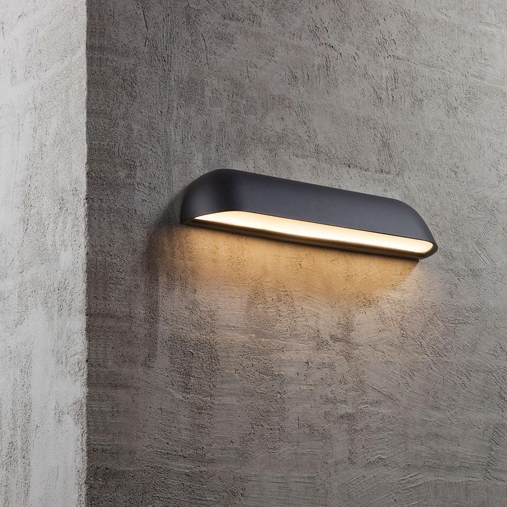 Design for the People Front 36 LED Aussen-Wandlampe IP44 850lm Schwarz