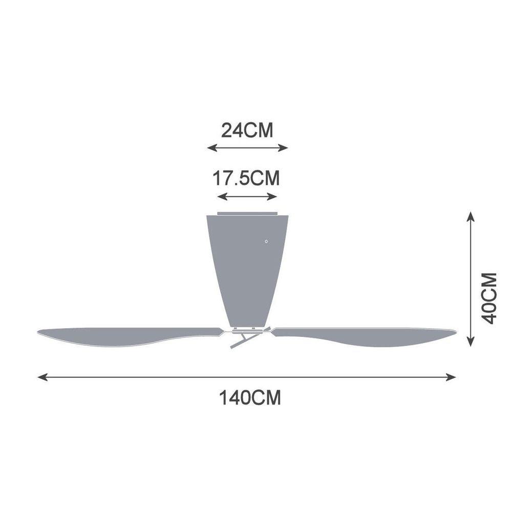 Luceplan Blow Ventilator (Körper) Ø140cm Opalweiß 6