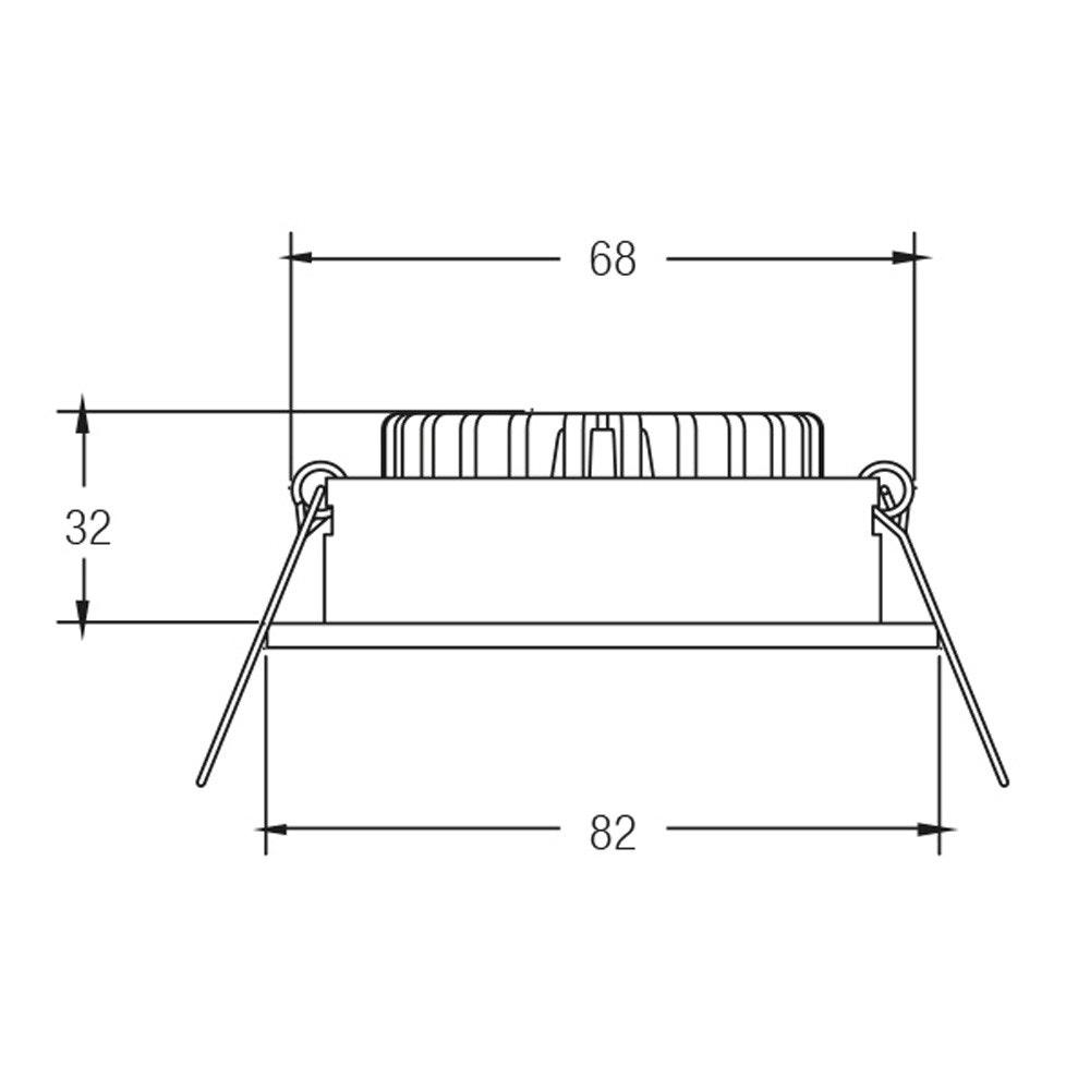 Brumberg LED-Einbaustrahler rund dim2warm & schwenkbar Alu-Matt 2