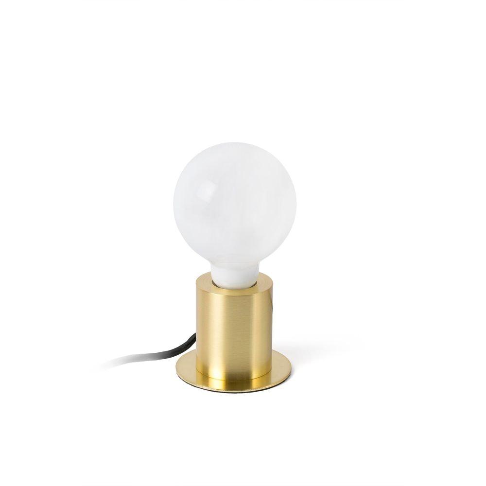 Tischlampe TEN Goldfarben-Satin