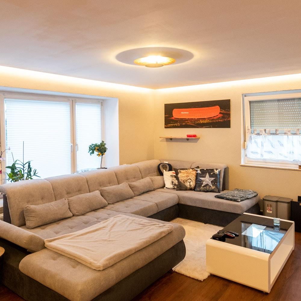 s.LUCE LED Wand- und Deckenlampe Plate Blattgold 12