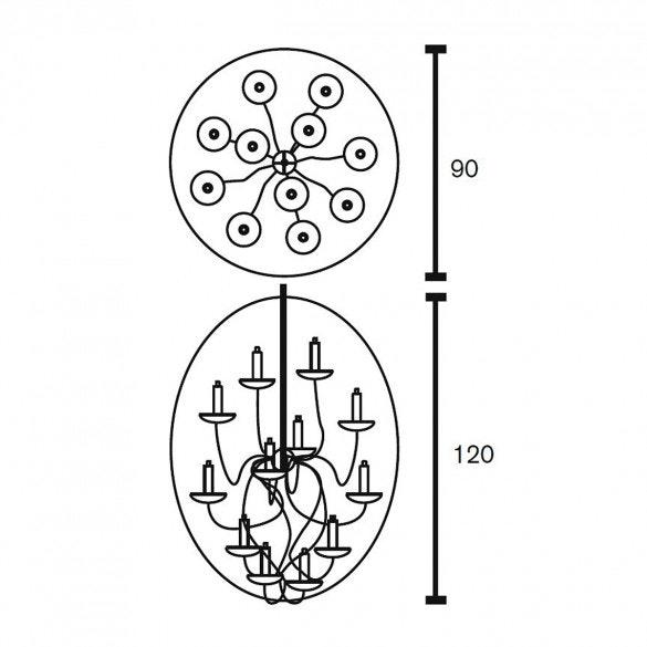 Brand van Egmond Kronleuchter Candles and Spirits Ø 90cm (Ausstellungsware) 8