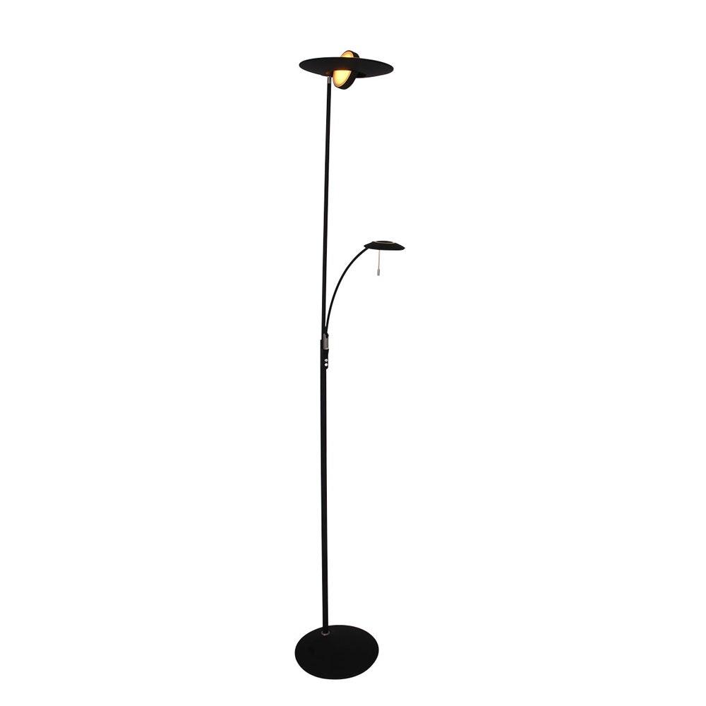 Steinhauer LED-Deckenfluter Zenith mit Lesearm & Tastdimmer CCT 1