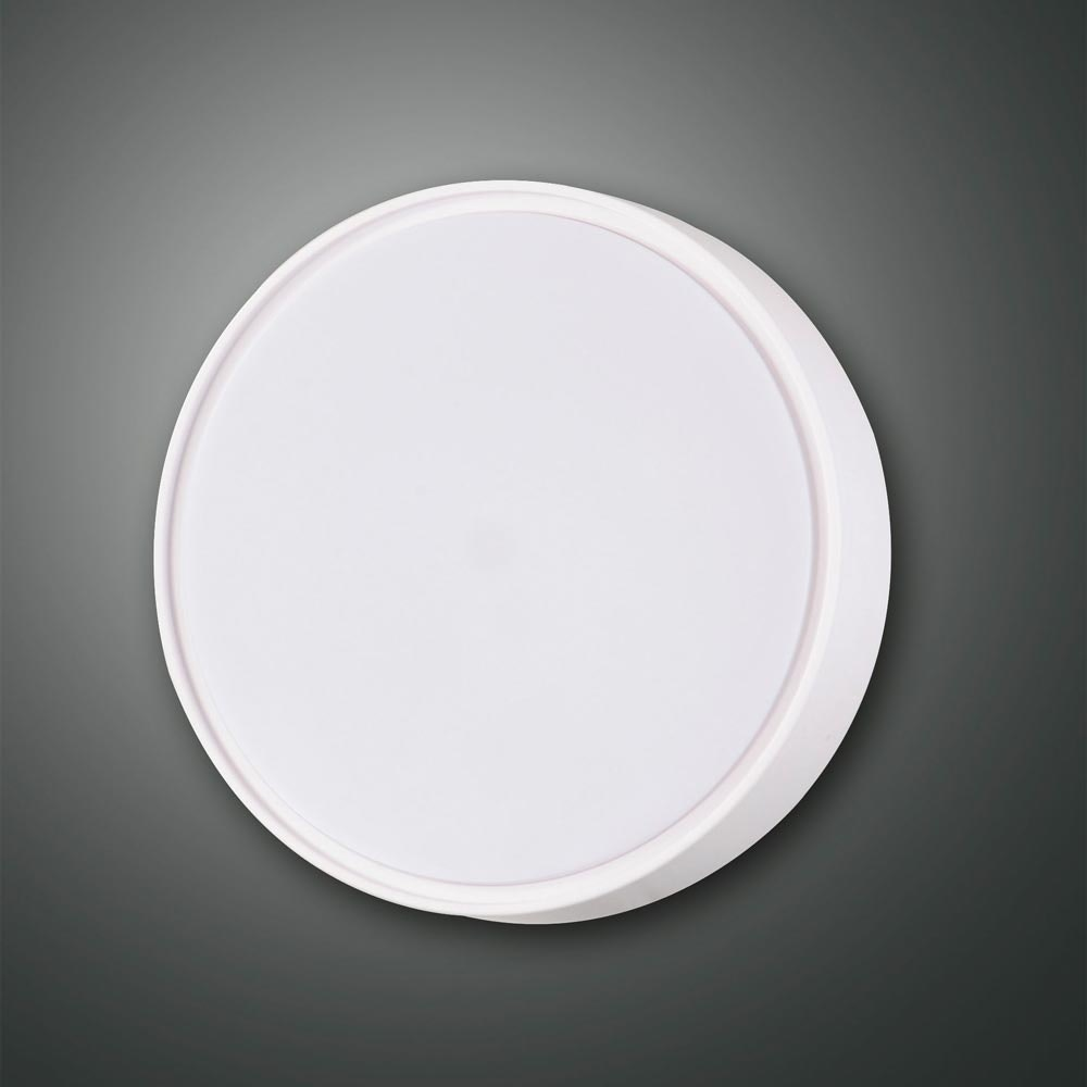 Fabas Luce Hatton Deckenleuchte Weiß E27 Ø 25cm mit Sensor 1