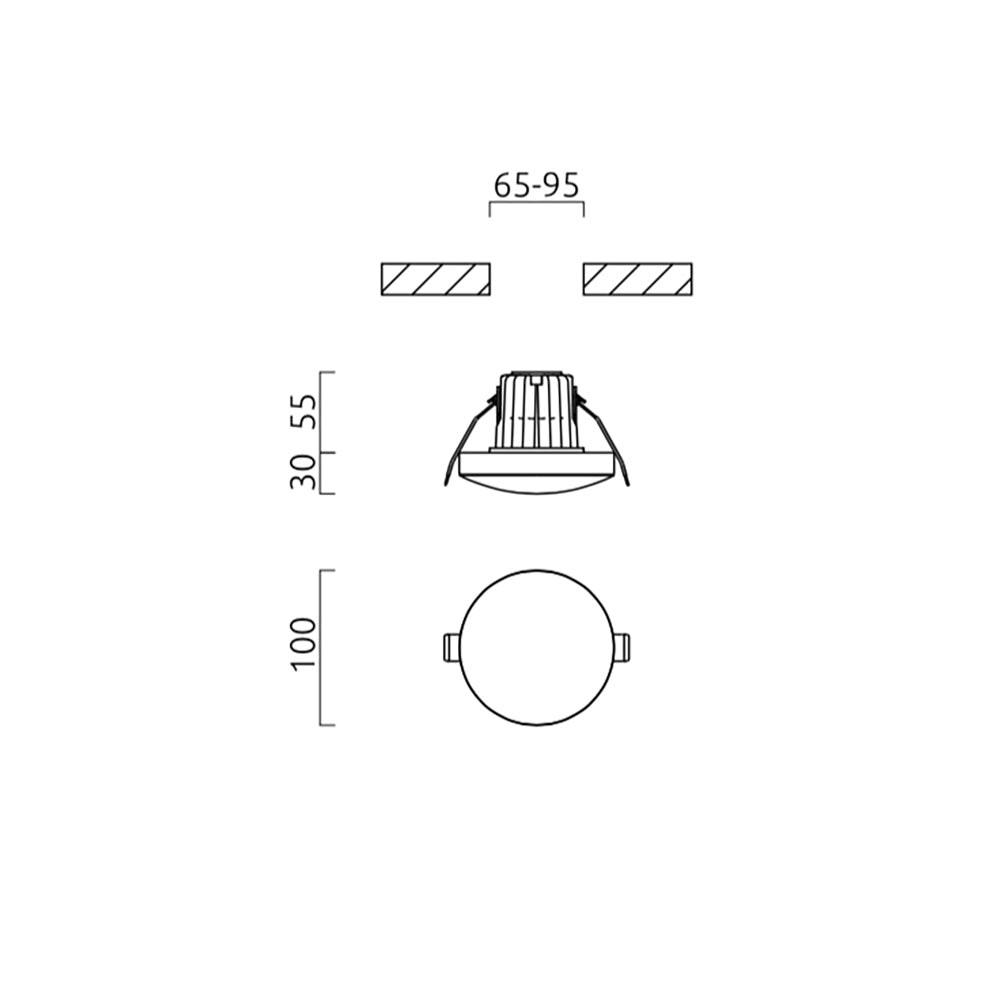 Helestra LED Deckeneinbauleuchte Lug Dimmbar 805lm Weiß 4