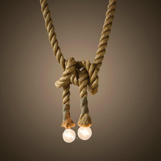 s.LUCE Rope Seil-Hängeleuchte mit 2 Fassung 250cm Braun 5