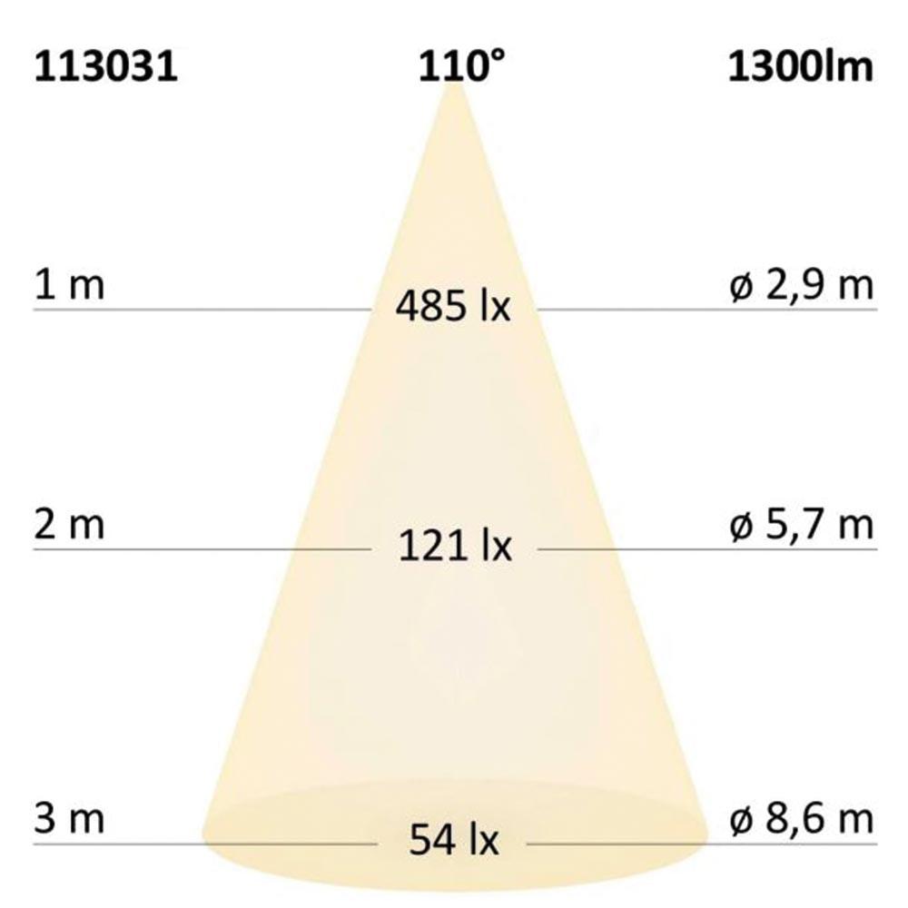 3-Phasen Linienleuchte 2200lm 20W 3000K warm Schwarz 12
