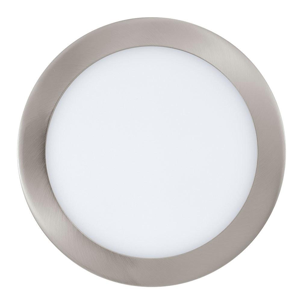 Fueva 1 LED Einbauspot Ø 22,5cm 2080lm Nickel-Matt