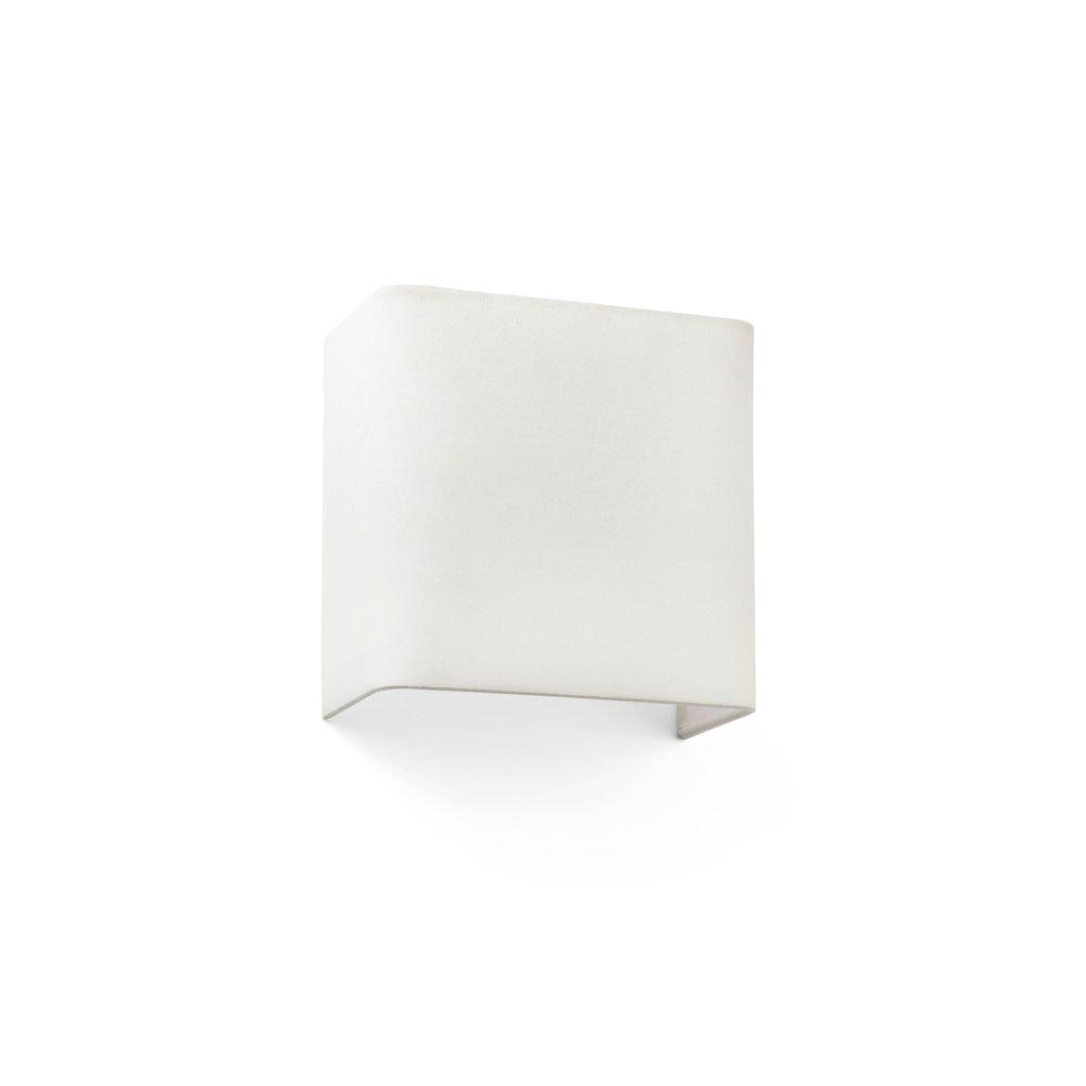 Stoff-Wandlampe COTTON Quadratisch Beige