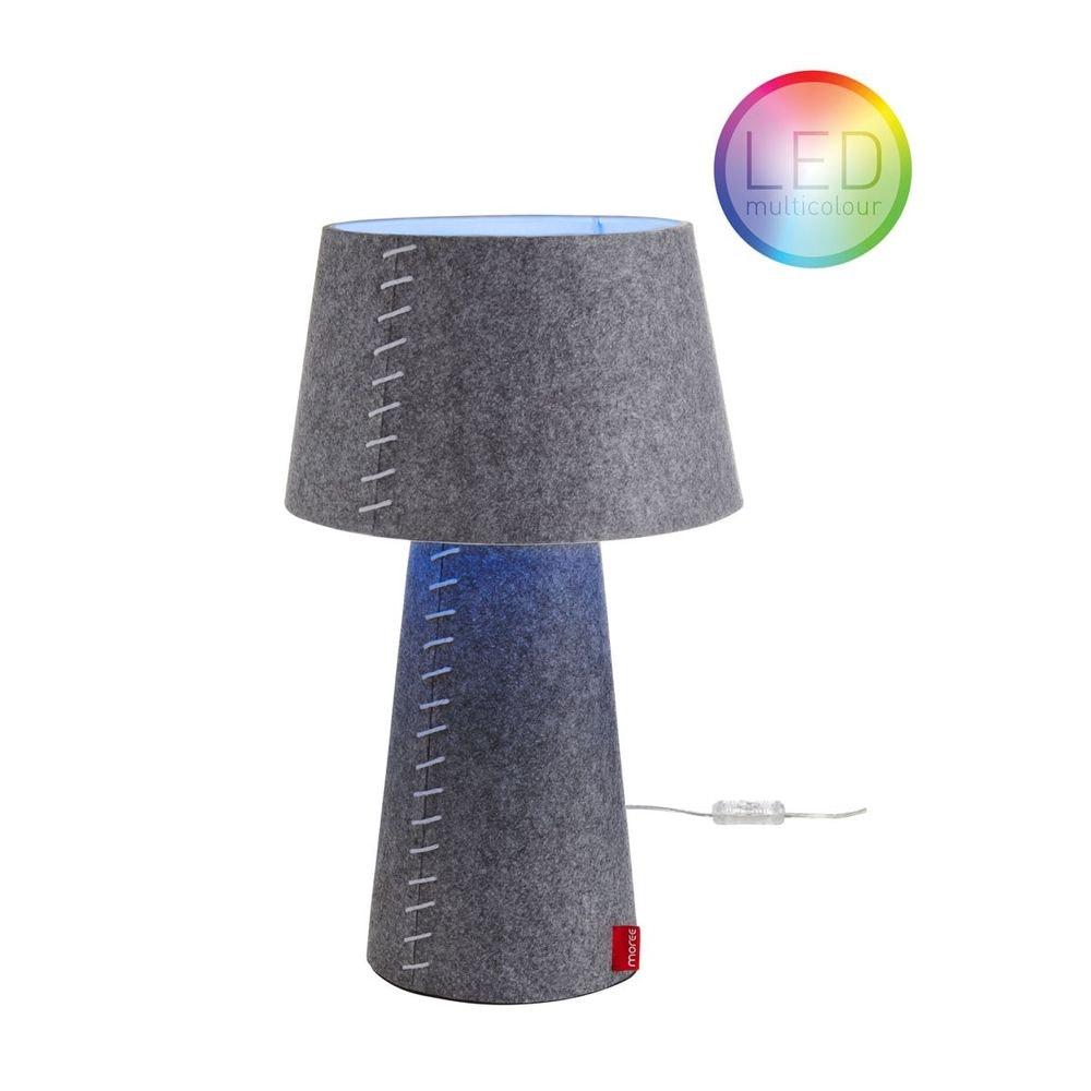Moree LED Tischleuchte Alice aus Filz Grau 2