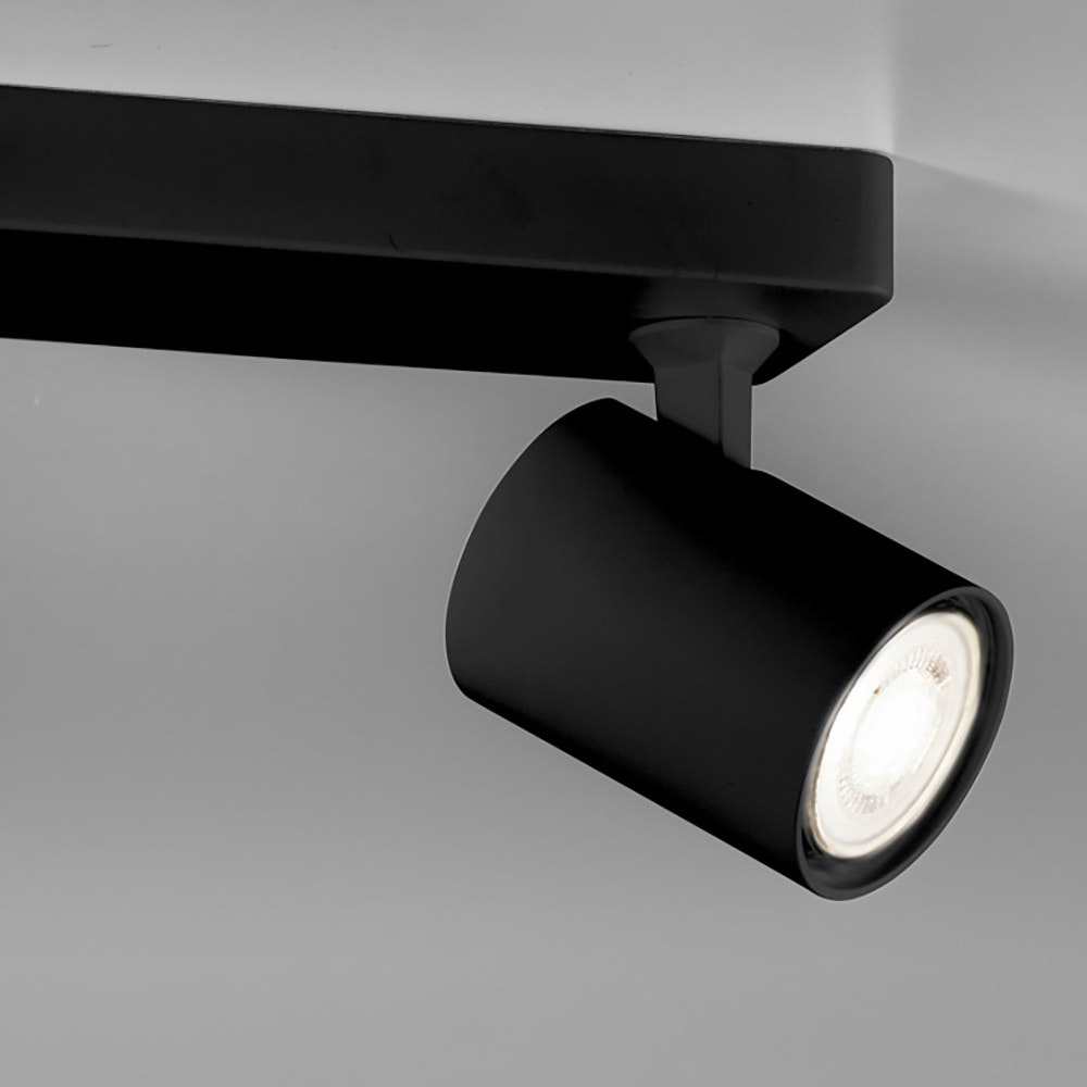 Licht-Trend Wand- und Deckenlampe Cup GU10 Schwarz 2