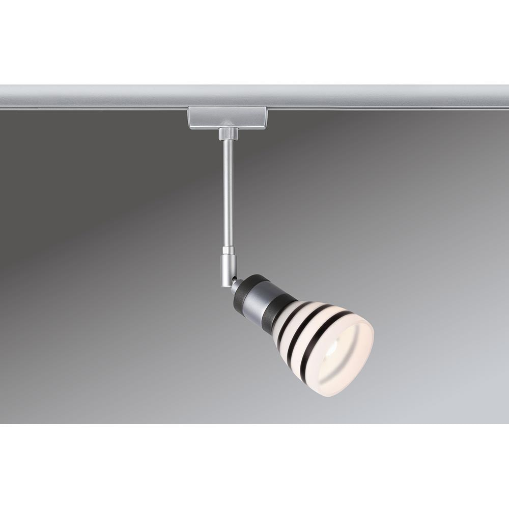 URail System Light&Easy Spot Titurel 1x42W G9 Opal Schwarz Glas 3
