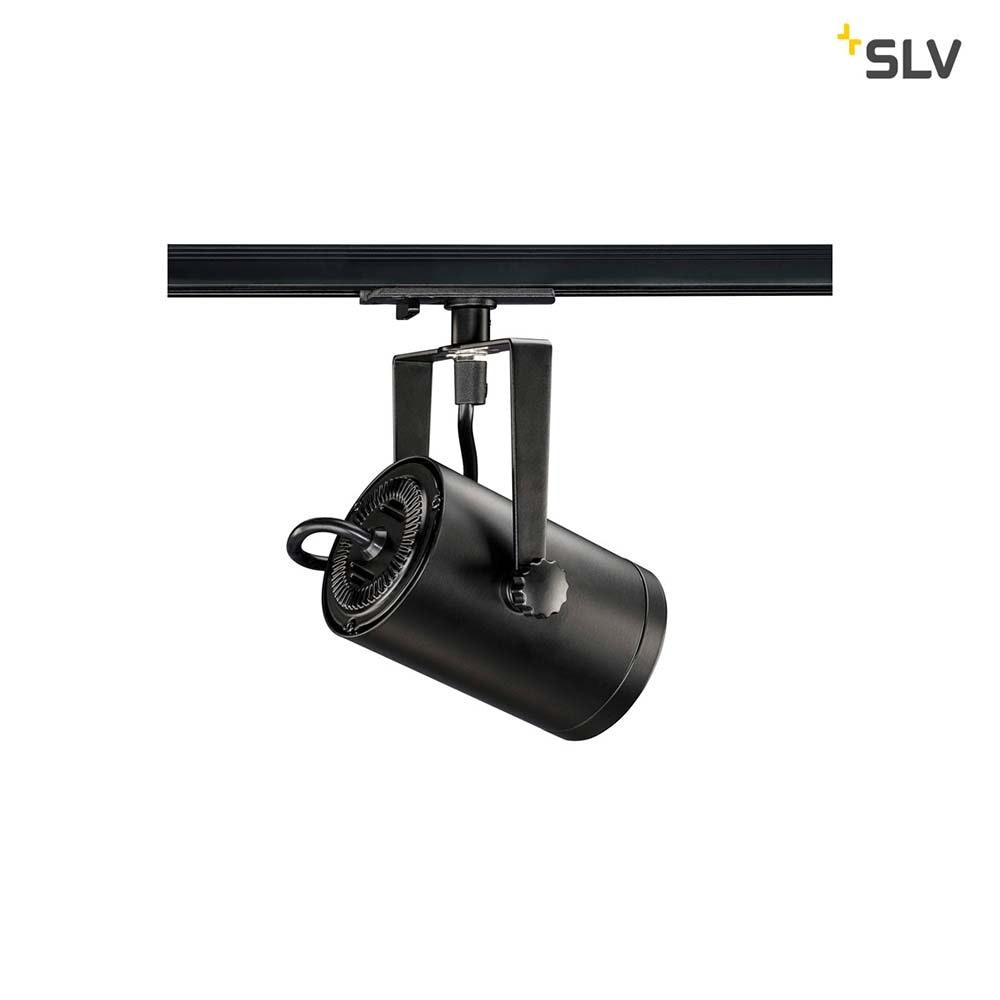 SLV Euro Spot Track Schwarz QPAR51 inkl. 1P.-Adapter 2