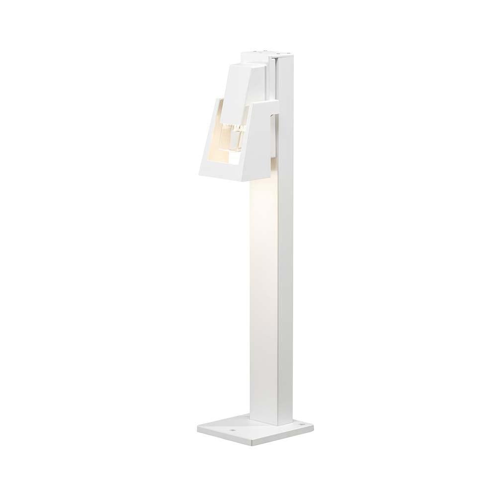 Potenza Wegeleuchte Weiß, klares Acrylglas 2