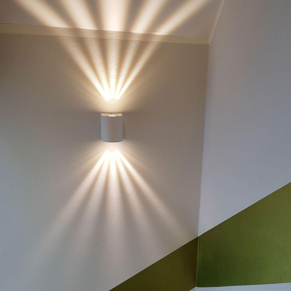 Baleno LED-Wandleuchte für Aussen und Innen Weiß 2