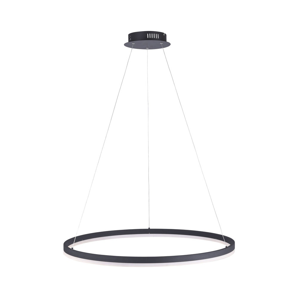 Ring L LED-Hängeleuchte dimmbar über Schalter Ø 80cm Anthrazit thumbnail 6