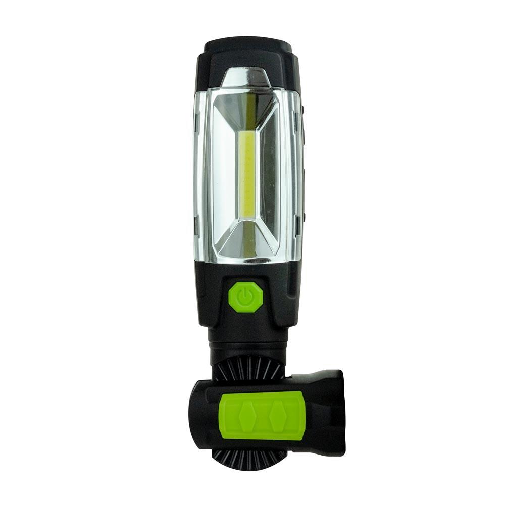 LED Akku-Handleuchte 3W 360° Drehbar mit USB Powerbank