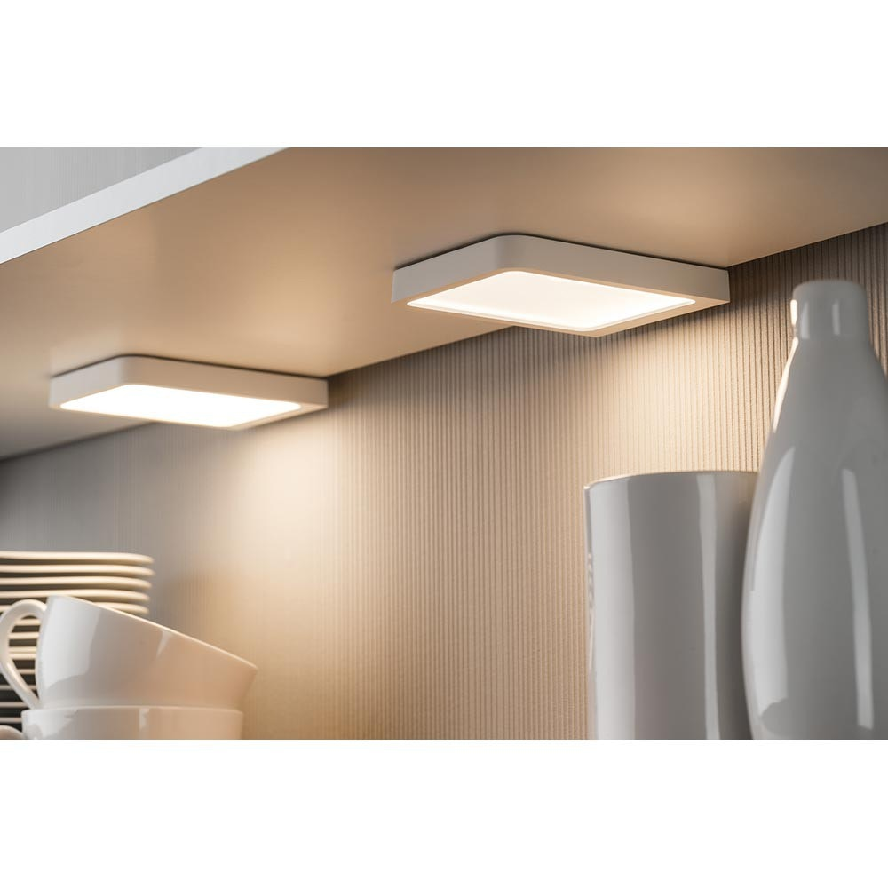 Möbel Aufbauleuchte LED Vane eckig inklusive LED-Modul 1x6, 7W