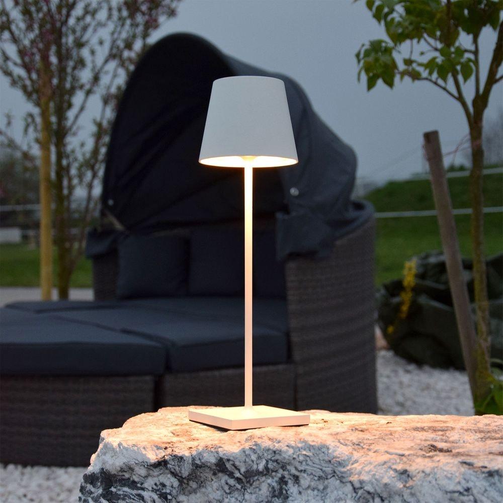 LED Außen Akku-Tischlampe Qutarg Easy-Connect IP54 6