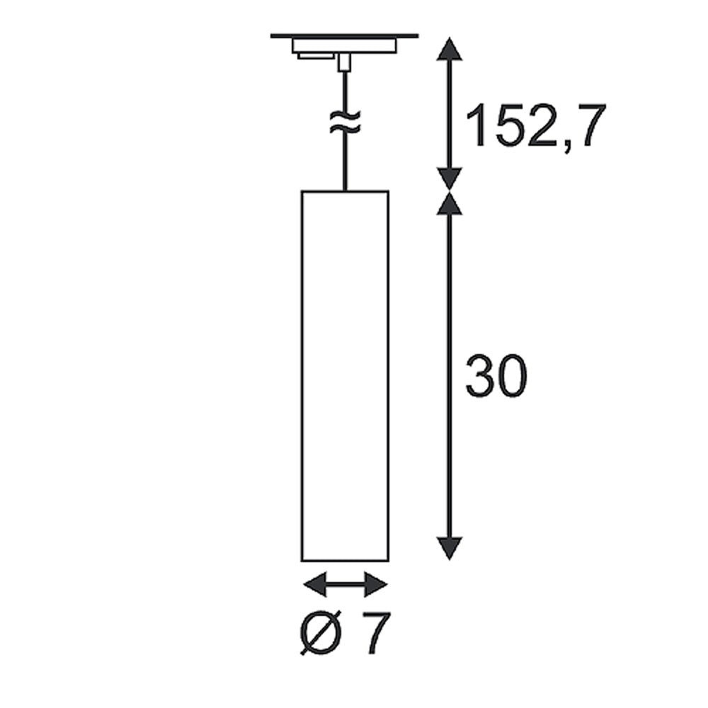 SLV Enola_B Pendelleuchte PD-1 weiss GU10 max. 50W inkl. 1P. -Adapter 2