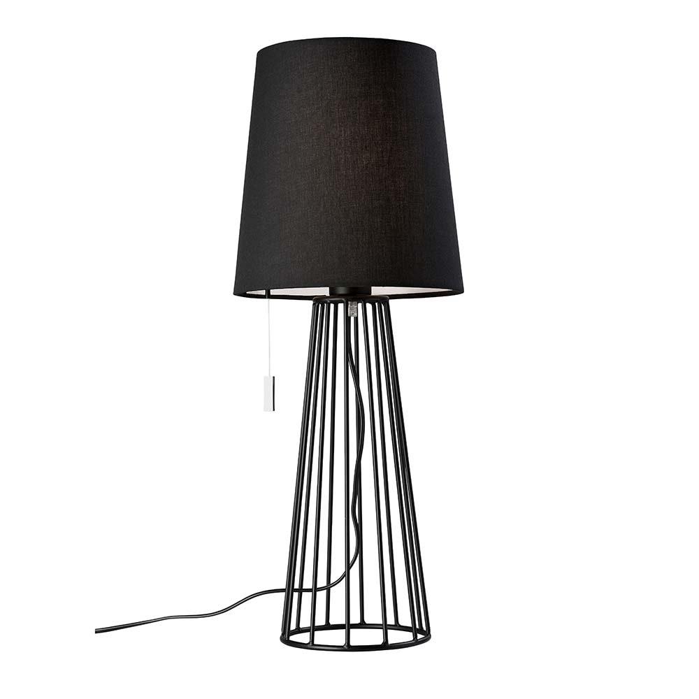 Villeroy & Boch Tischlampe Mailand 59cm Schwarz