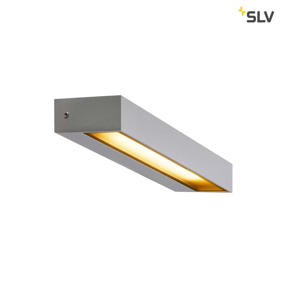 SLV Pema LED Aussen-Wandaufbauleuchte IP54 Silber 1