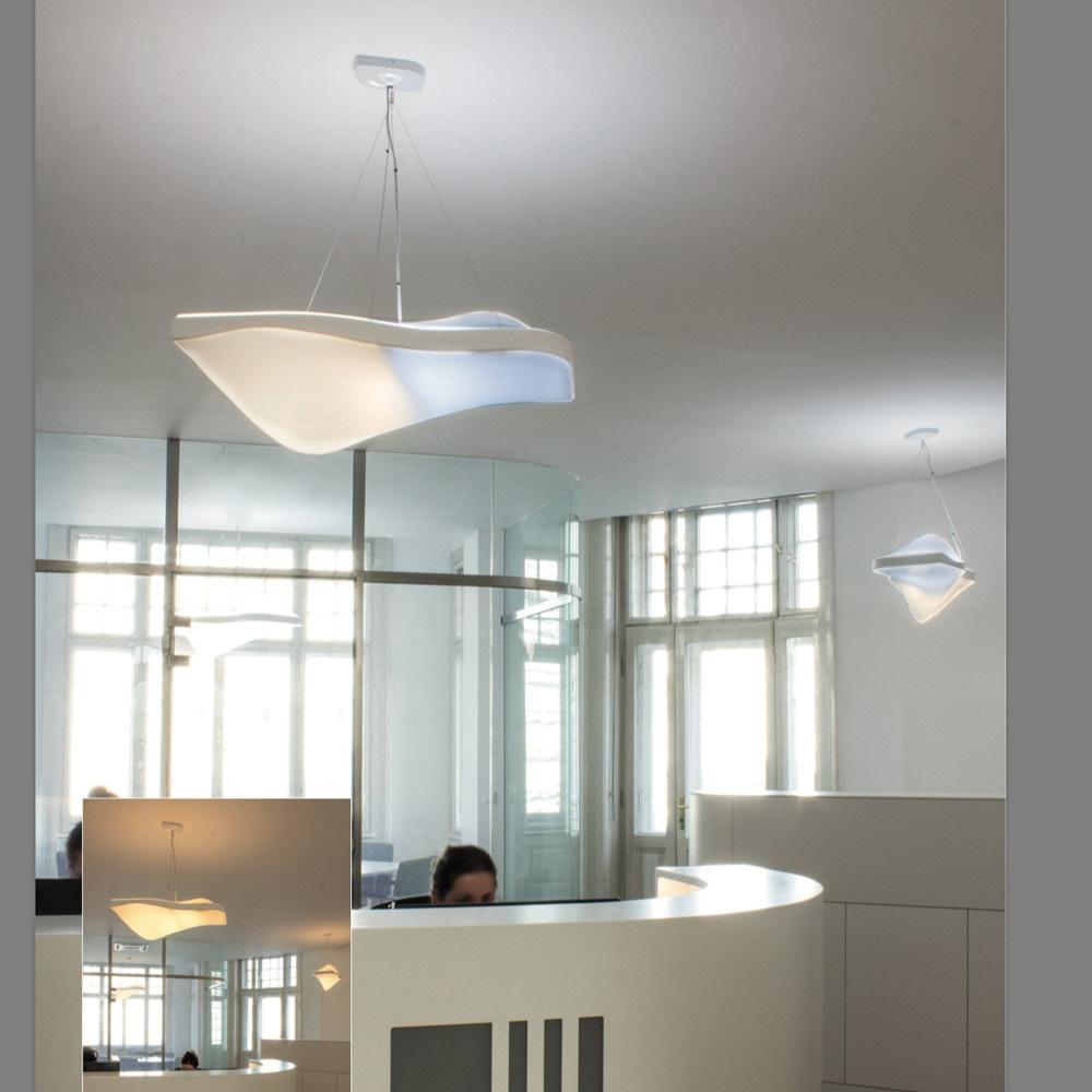 Kiteo Vibe Design-Pendelleuchte PI-LED ZigBee 3.0 Weiß thumbnail 4