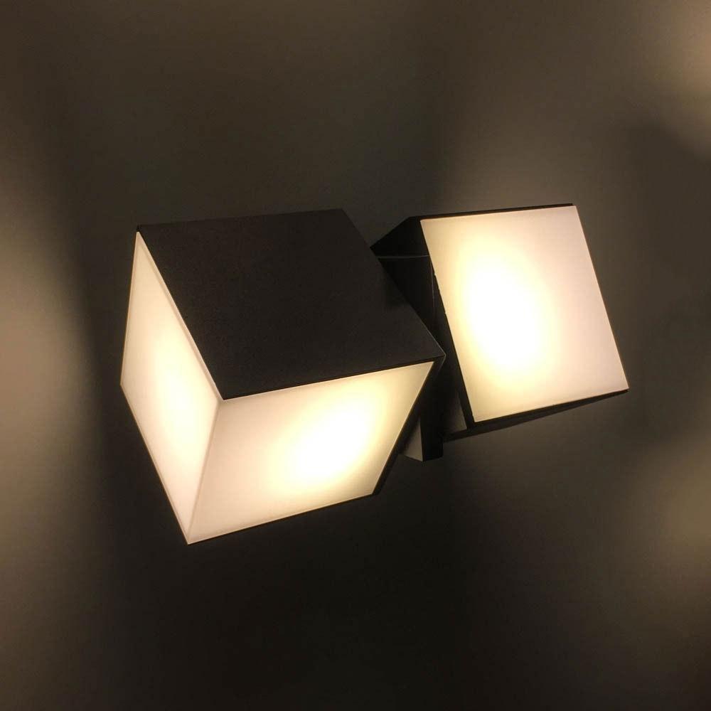 Drehbare LED-Außenwandleuchte Cuba IP54 Anthrazit 5