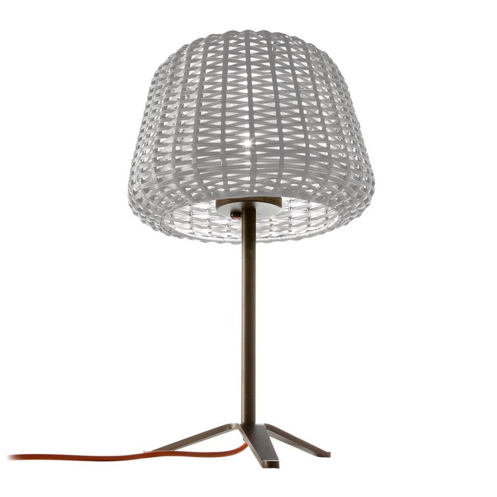 Panzeri Ralph Rattan Außen Tischlampe 58cm 1
