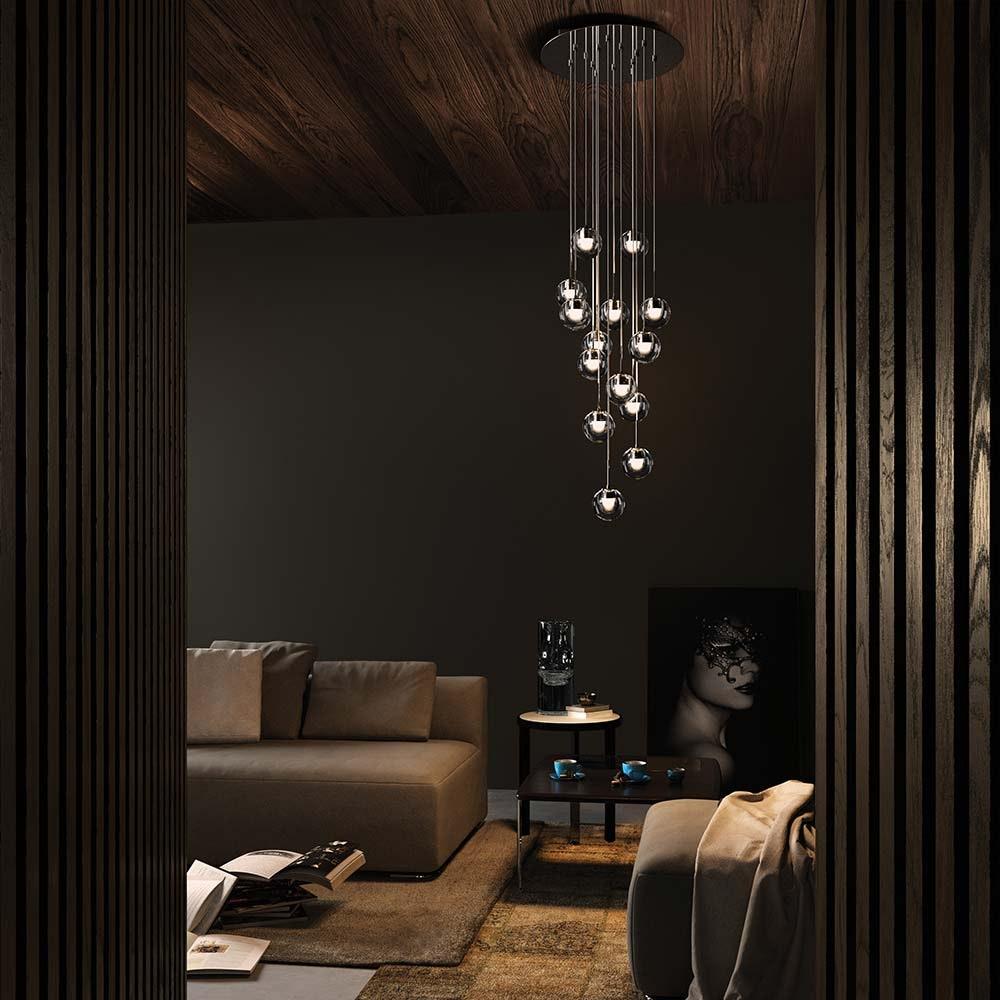 Hängeleuchte Lightbubbles Wohnbereich über Beistelltisch