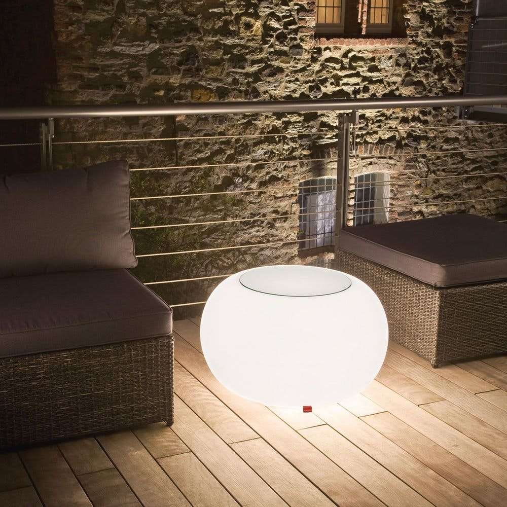 Moree Outdoor LED Tisch oder Hocker Bubble 8