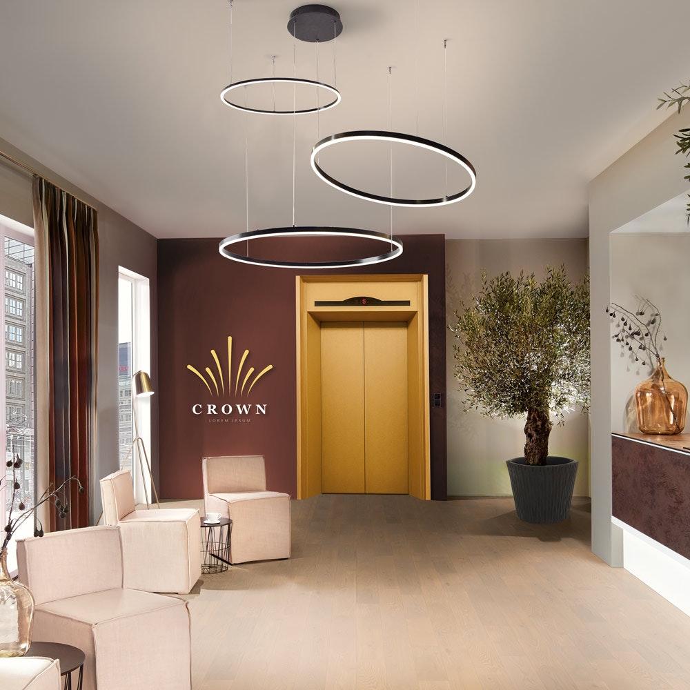 s.LUCE Ring 120 LED Pendelleuchte 5m Abhängung 5