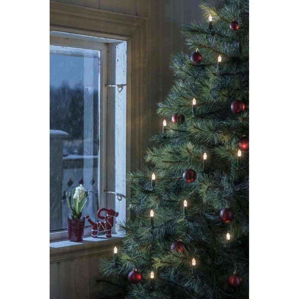 LED Baumkette Topbirnen grün One String verschweißt 16 warmweiße Dioden 1