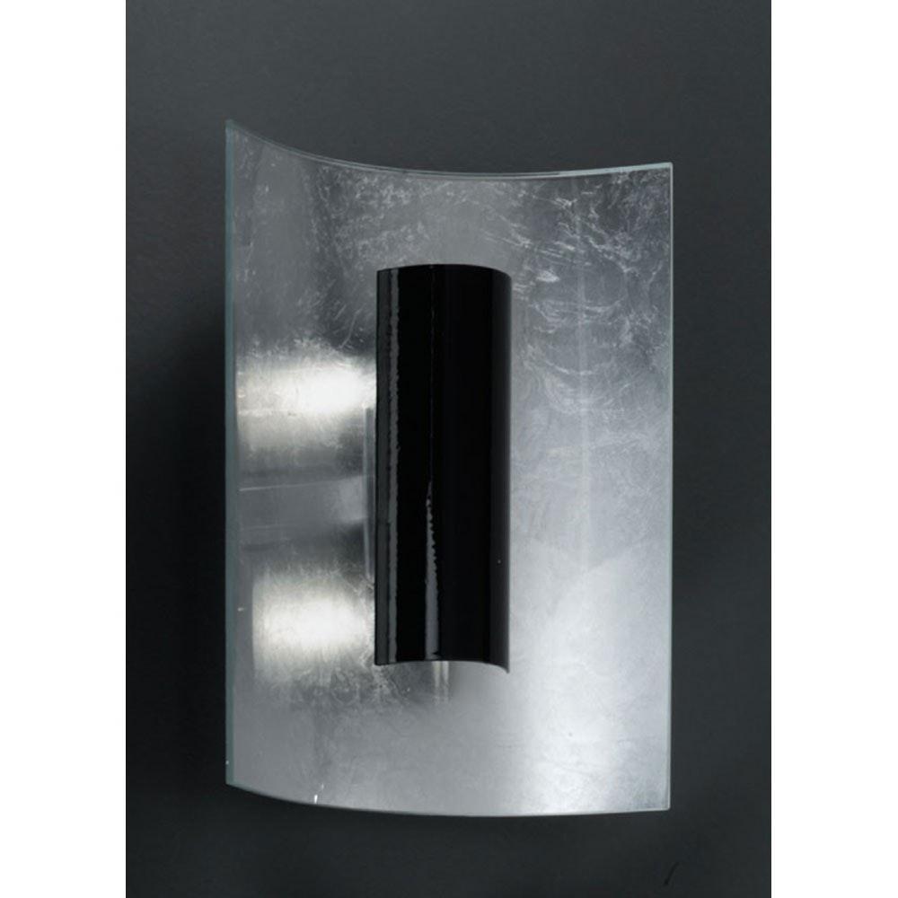Aura Silber Wand- & Deckenleuchte 2-flammig Silber Schwarz 30cm