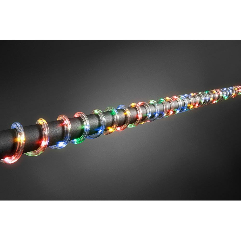 LED Lichterschlauch 6m mit Lichtsensor Timer 96 bunte Dioden batteriebetrieben IP44 2