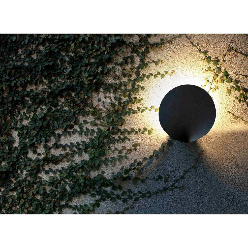 LED Außenwandlampe LOTUS 3000K IP65 Dunkelgrau 3