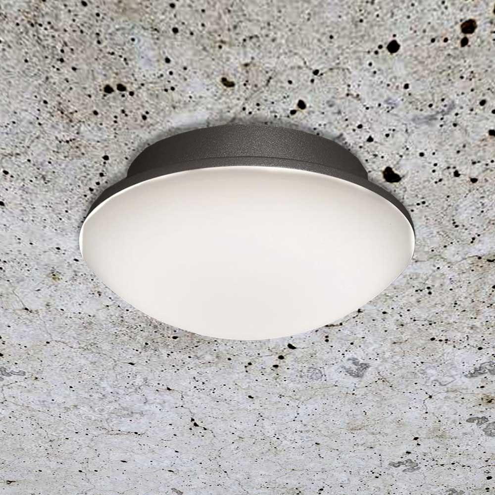 LED Außenwand- & Deckenleuchte Mini IP54 Ø 14cm Anthrazit