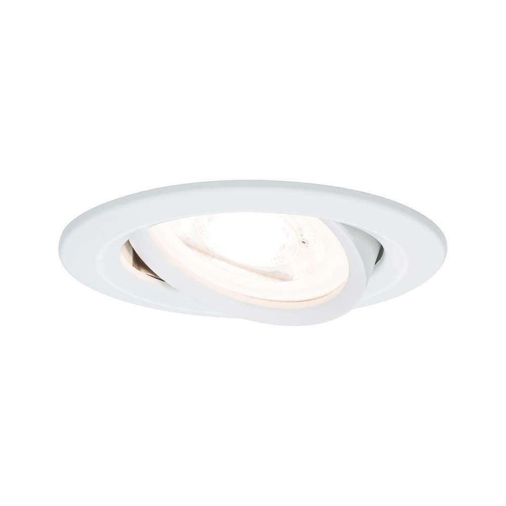 Einbauleuchte Nova rund schwenkbar LED 1x6,5W 2700K GU10 Weiß 1