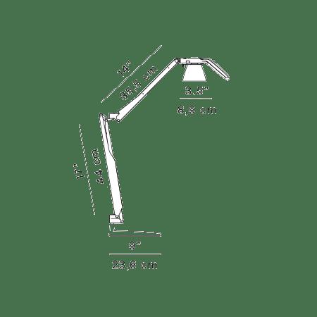 Luceplan Fortebraccio LED Tisch- & Wandleuchte (Körper) 3000K 2