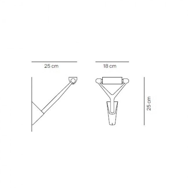 Luceplan Wandlampe Lola Lichtwirkung drehbar 6